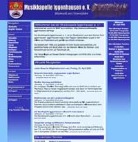 Internetseite 2002 bis 2004 - <br>für Großansicht anklicken
