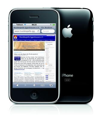 Unsere Seite auf dem iPhone