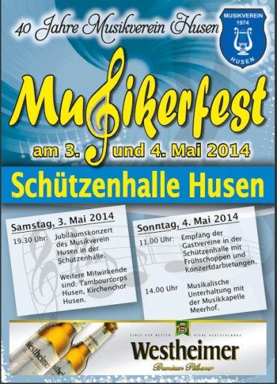 Musikerfest in Husen 2014